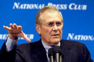 """""""Rumsfeld060202-N-0696M-192"""". Licensed under Public Domain"""
