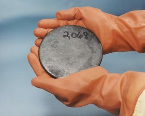 """Scrap Highly Enriched Uranium. Image Source: """"HEUranium"""" by Department of Energy"""