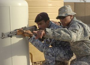 The U.S. Army - Instructing National Police officers