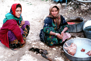 Kurdish women cooking. Image Source: Paul R. Caron, U.S. Air Force