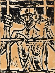 "Prisoner in art. ""Christian Rohlfs Der Gefangene 1918 img02"" by Christian Rohlfs -"
