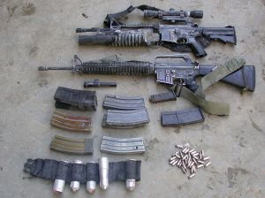 Weapons cache recovered by IDF. These weapons were not properly packaged. Image source: IDF