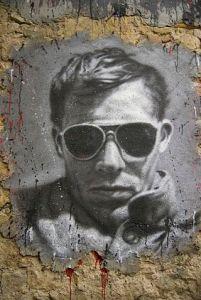 "Hunter S. Thompson.  Image Source: ""Hunter S. Thompson graffiti 1"" by thierry ehrmann"