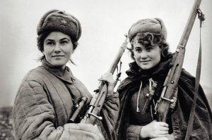 """Kovpak partisanki"" by pre-1954 image, unknown author -"