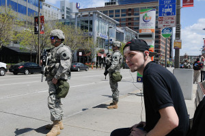 National Guard in Baltimore. Image source: National Guard