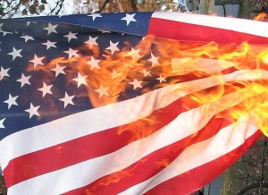 Burning American Flag Image Source:  Jennifer Parr