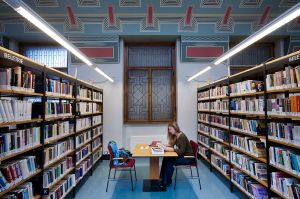 "A library in Prague. Image Source: ""A municipal library, Prague - 8471"" by © Jorge Royan / http://www.royan.com.ar."