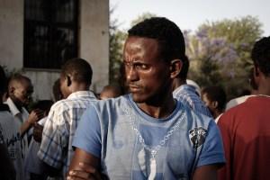 Sasha Kimel, Flickr, Creative Commons African Migrant Worker (Tel Aviv - Shapira)
