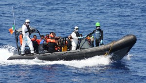 Image Source: Irish Defence Forces, Flickr, Creative Commons P52 Migrants 19 July 2015 02 LÉ NIAMH rescue of 98 migrants 19th of July 15