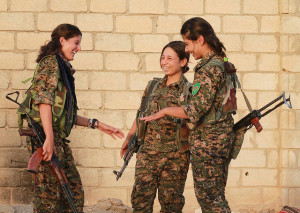 Image Source: Kurdishstruggle, Flickr, Creative Commons Kurdish YPG Fighters YPJ
