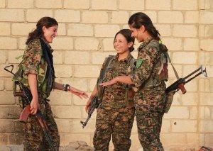 Image Source: Kurdishstruggle, Flickr, Creative Commons Kurdish YPG Fighters YPJ