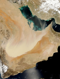 Image Source: NASA Goddard Space Flight Center, Flickr, Creative Commons Dust storm in Saudi Arabia NASA image acquired: March 26, 2011