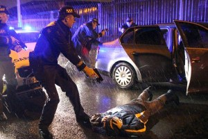 From 2013. Source: Secretive Ireland, Flickr, Creative Commons 'Hard Stop' conducted by the Armed Garda RSU Armed officers from the Irish Garda Regional Support Unit (RSU) stop a vehicle at gunpoint during an operation against organised crime gangs