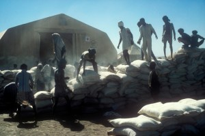 Image Source: British Red Cross. Flickr, Creative Commons 1984: food distribution organized by Ethiopian Red Cross volunteers. Between 1984 and 1985, the northern regions of Ethiopia suffered a dramatic famine. The estimated death toll of the famines was over one million.