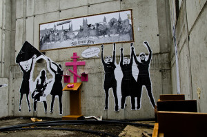 Image Source: ericzim, Flickr, Creative Commons church of pussy riot magdeburg