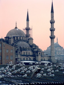 """Mosques in Istanbul at dusk,"" WikiMedia Commons"