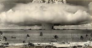 Image Source: James Vaughan, Flickr, Creative Commons 1946 ... Baker Shot- Bikini Atoll 'Operation-Crossroads