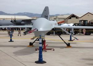 Image Source: Greg Goebel, Flickr, Creative Commons Ywprd_3b  MQ-1 Predator drone, Davis-Montham AFB AZ / 2014