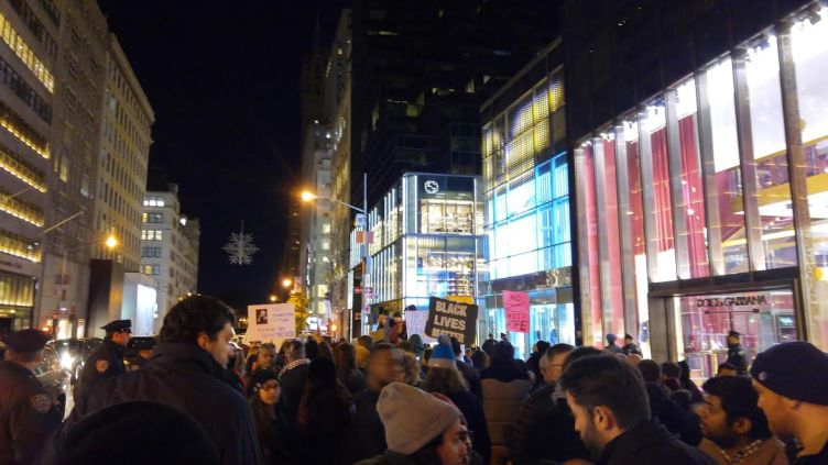 """The """"free speech zone"""" in front of Trump Tower - Photo Credit: Randi Nord"""