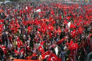 Anti-PKK Demonstration, By Randam - Own work, Public Domain, Wikimedia Commons