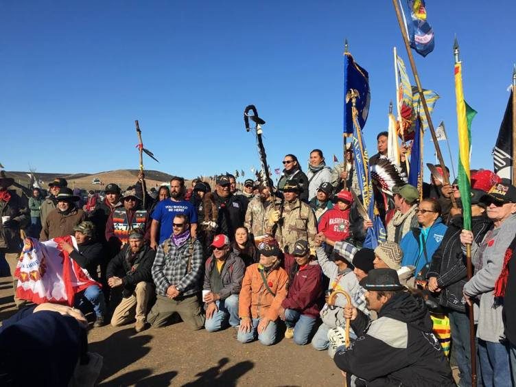Veterans' Day, the veterans at camp - Photo Credit - Debra Cohen