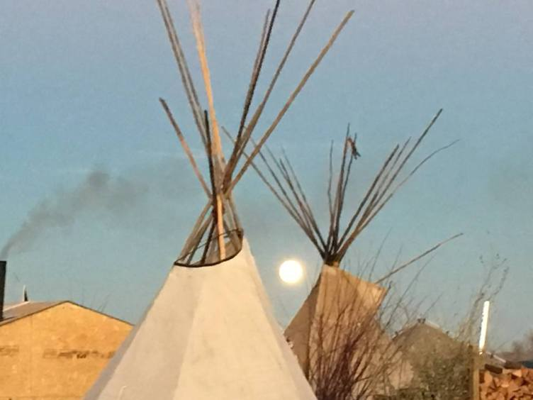 Moon rise at Standing Rock - Photo Credit - Debra Cohen