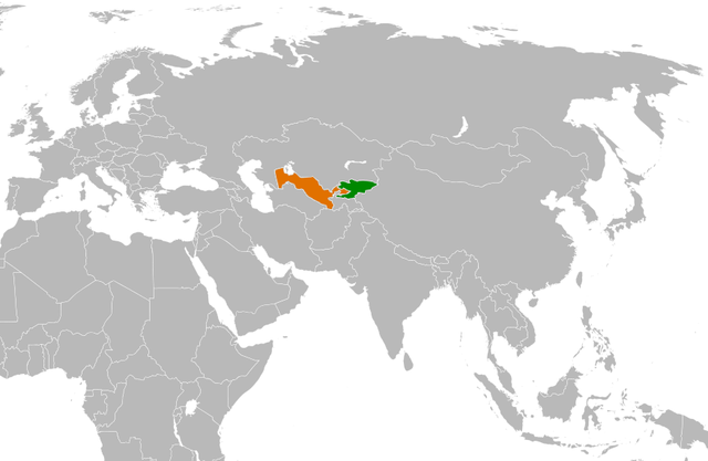 Once Deadly Foes Now BFF Kyrgyzstan And Uzbekistan The Fifth - Uzbekistan map png