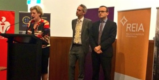 Left to Right: Jane Prentice, MP for Ryan; Andrew Giles, MP for Scullen; and Adam Bandt, member for Melbourne.