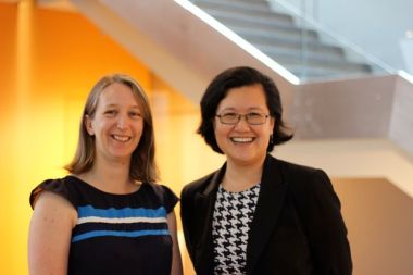 Bec Dawson (left) and Ming Long.
