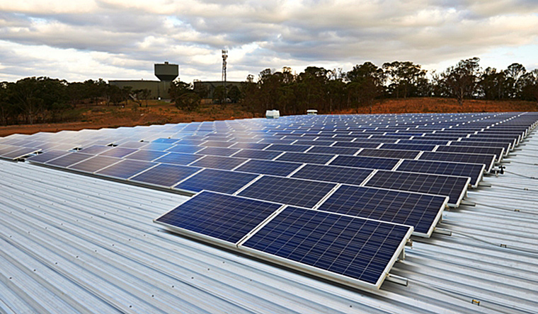 Australand's solar PV installation on CH2 at Eastern Creek