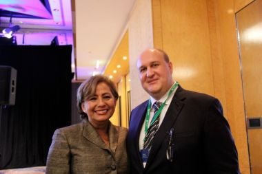 Rosario Marin with Darren Pearson at the UDIA national congress in Sydney
