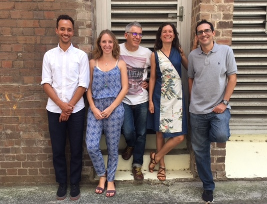The Good on You team: Will Farrier, Bethany Noble, Gordon Renouf, Celine Massa and Faycal Fassi.