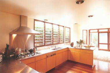 New kitchen in Sydney's Sustainable House – just like any other ordinary Australian house on the grid