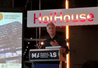 Stuart White from ISF speaking at HotHouse on 12 August.
