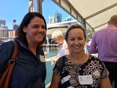 Celia Cavanagh-Downs of Melbourne based interior design company PTID (left) and Kirsten brown of HermanMiller