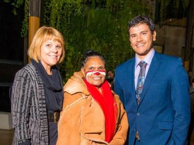(L-R): UQ Pro-Vice-Chancellor (Indigenous Education) Professor Cindy Shannon, Songwoman Maroochy Barambah, Ray Pratt.