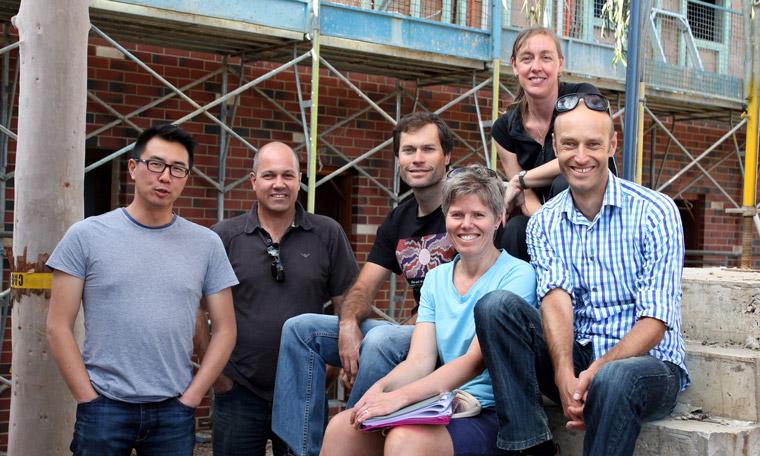 (L-R): Sid Thoo, Gary Wright, Mark Dowley, Eugenie Stockmann, Alana Dowley and Helmuth Stockmann.