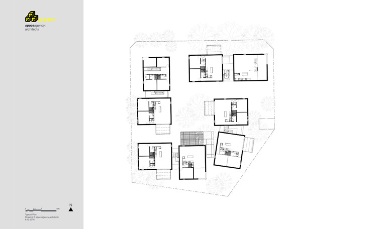 An architectural drawing by spaceagency to show how the site could be configured