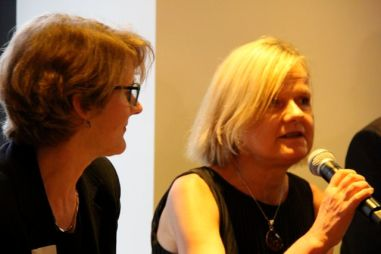 L to R: Stephanie Barker, Greater Sydney Commission; Wendy Hayhurst, NSW Federation of Housing Associations