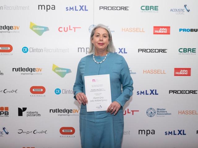 Sharon Gray with sustainability award