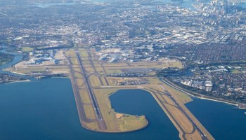 aerial view of Sydney Airport Mascot