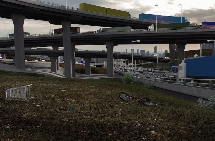 St Peters Interchange - low angle impression