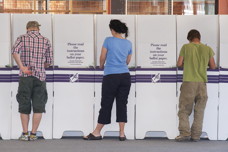 climate policy voting booth