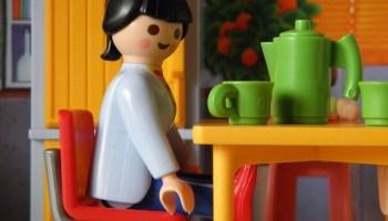 plastic doll house