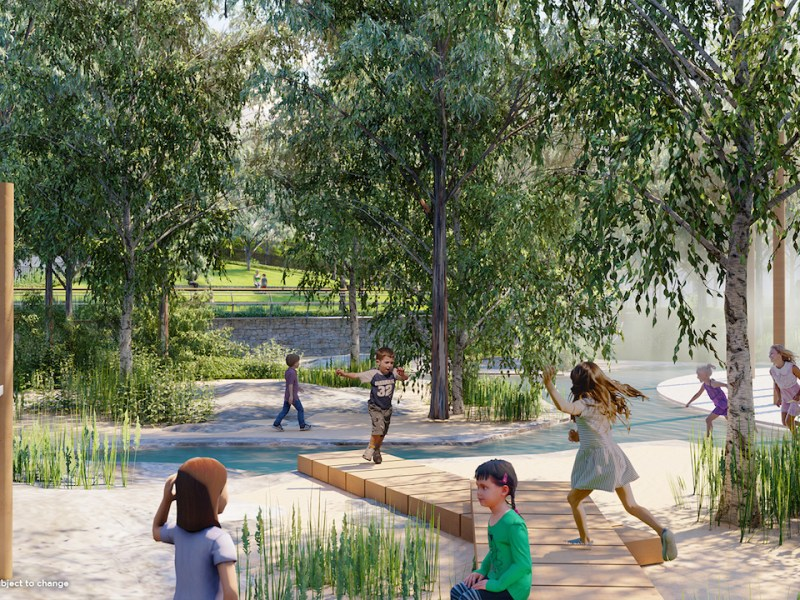 """Playtime returns to its roots with Gosford's new """"wild play"""" park"""