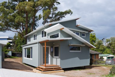 Thornleigh passive house design: back of house