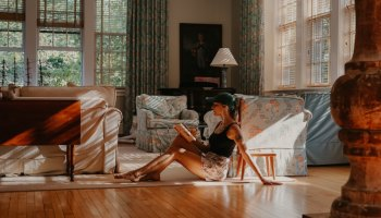 girl in house