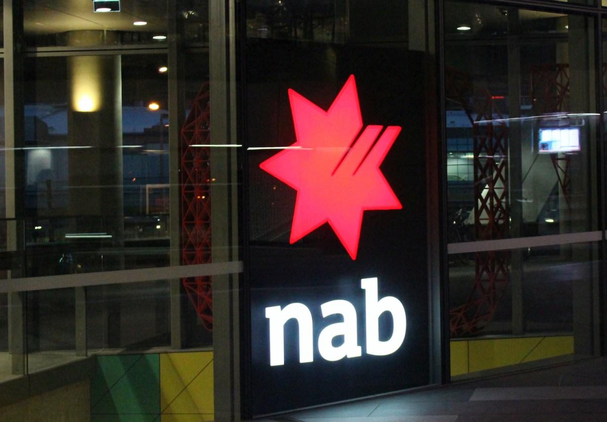NAB bank sign