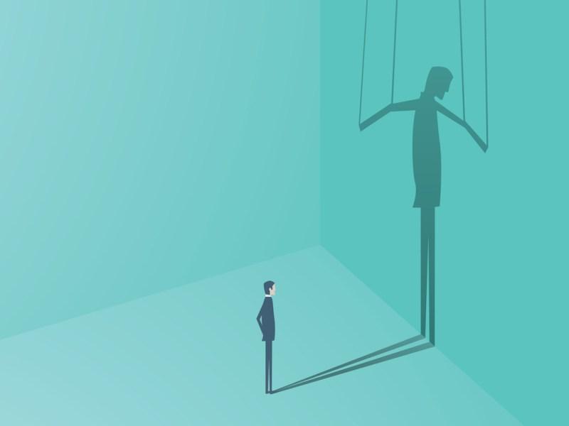 puppet man strings illustration