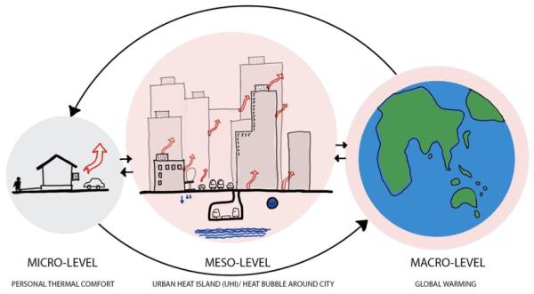 urban heat island effect infographic